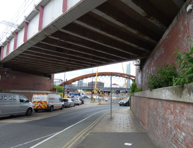 A view of the Ordsall Chord