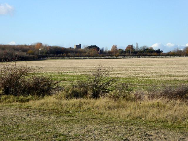 View towards East Mersea church
