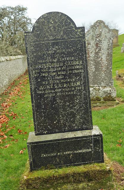 An interesting gravestone at Lilliesleaf Parish Church