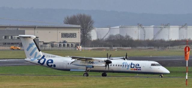 G-ECOT, Belfast City Airport (December 2017)