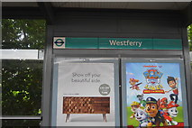 TQ3780 : WestFerry DLR Station by N Chadwick