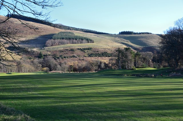 A quiet day on the course, Cardrona