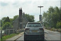SP4408 : Queuing for the Swinford Toll Bridge by N Chadwick