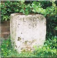 SP6532 : Old Milestone by A Rosevear & J Higgins