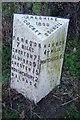 SJ4445 : Old Milepost by JV Nicholls & J Higgins