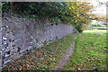 SE0339 : Wall bounding Branshaw Plantation beside footpath by Roger Templeman