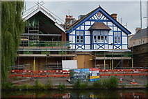 TL4559 : Christ's College Boathouse by N Chadwick