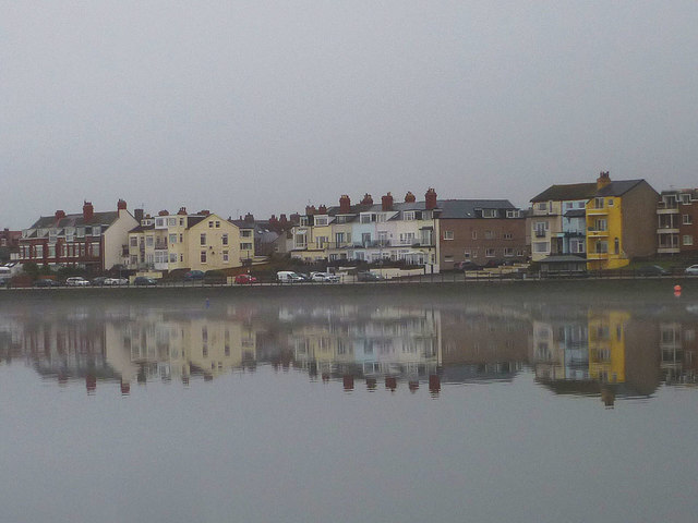 Reflections in the Marine Lake, West Kirby