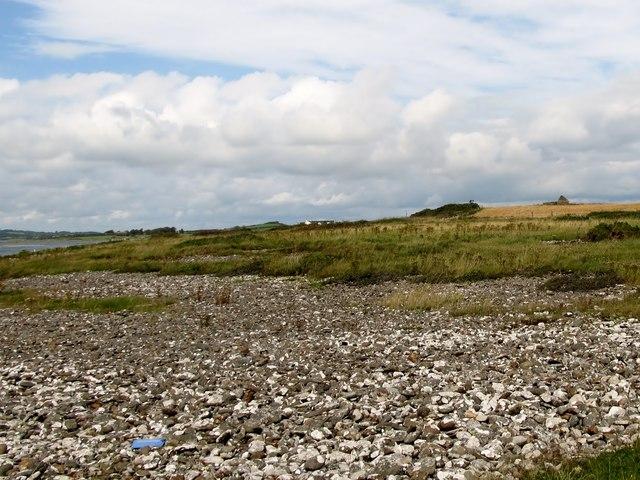 Pebble beds on the Raised Beach at Ballyquintin