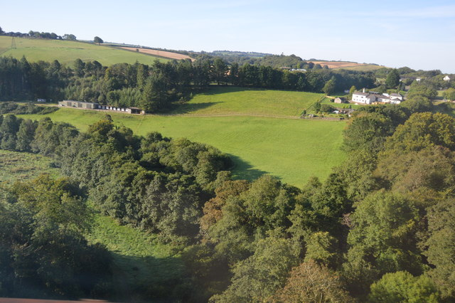 View from Coldrenick Viaduct