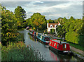 SO9058 : Visitor moorings north of Tibberton in Worcestershire by Roger  Kidd