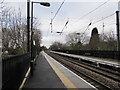 SP1199 : Overhead power lines, Butlers Lane railway station, Sutton Coldfield by Jaggery