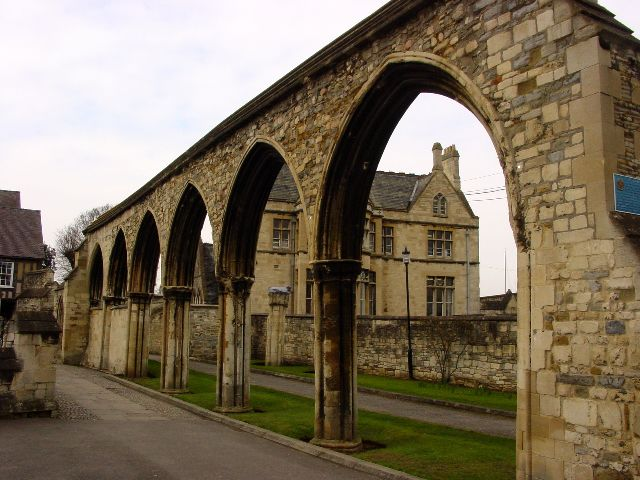 Arches near Gloucester Cathedral