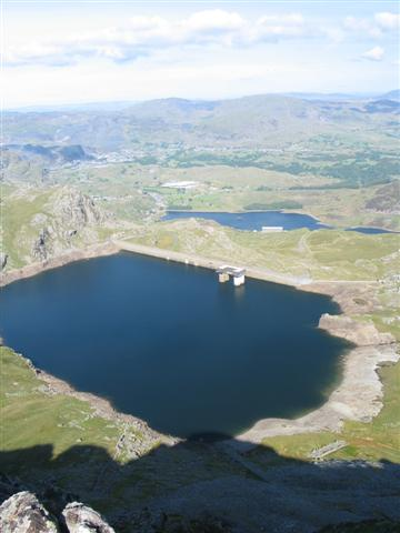 Looking Down on Llyn Stwlan