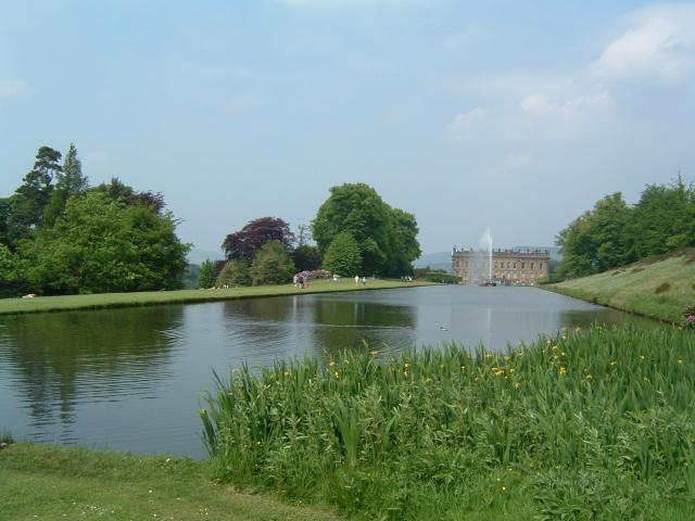 Chatsworth House lake.