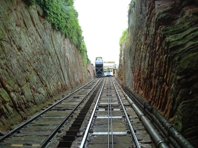 Cliff Railway from Low Town to High Town, Bridgnorth, Shropshire