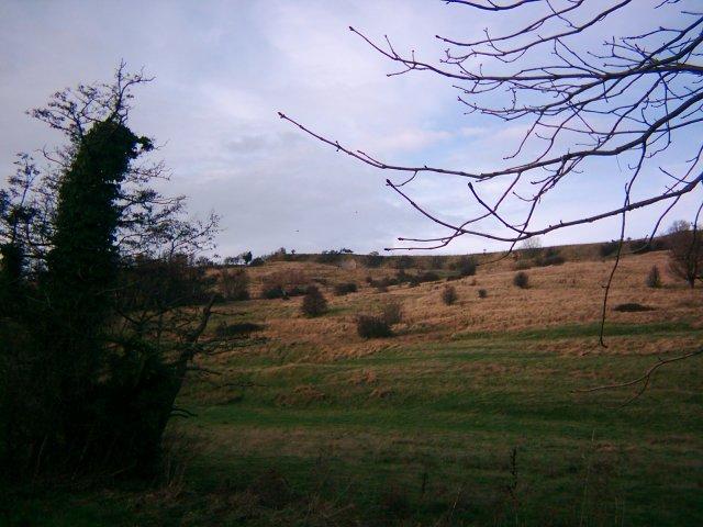 The hills near West Hythe