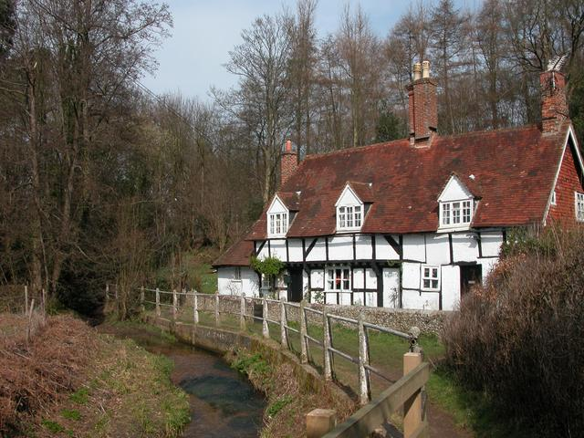 Cottages by Ashford Stream