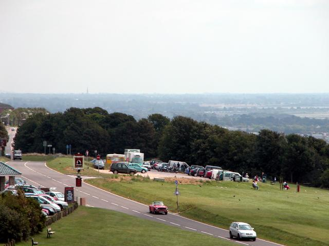 Viewpoint atop Portsdown Hill