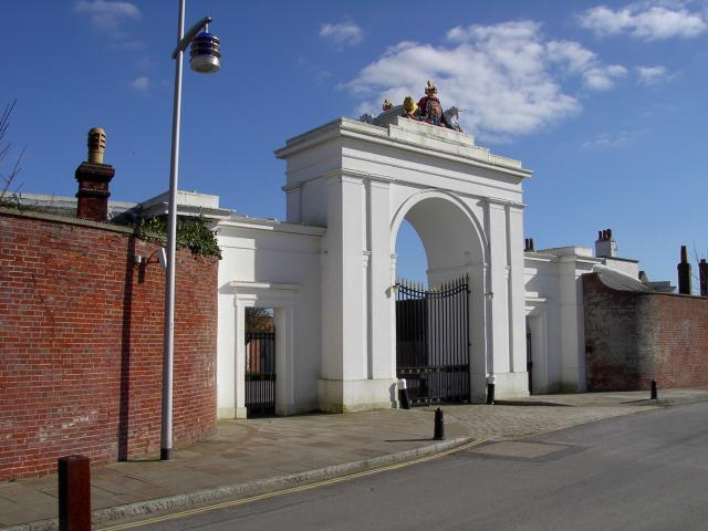Gate to Clarence Yard