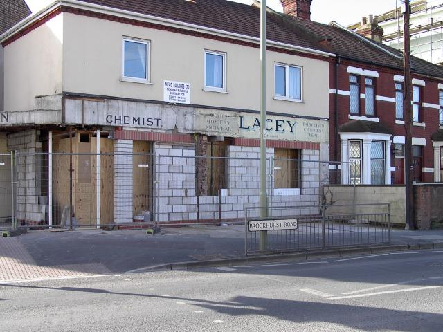 The old Chemist being converted to flats on the corner of Anns Hill Road
