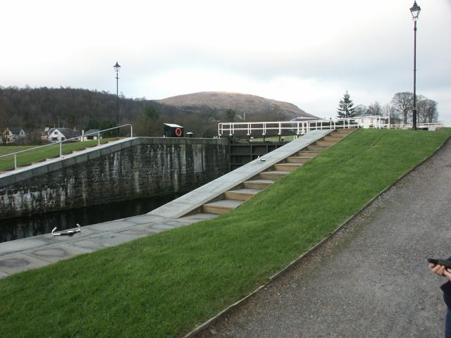 Bottom lock at Neptune's Staircase