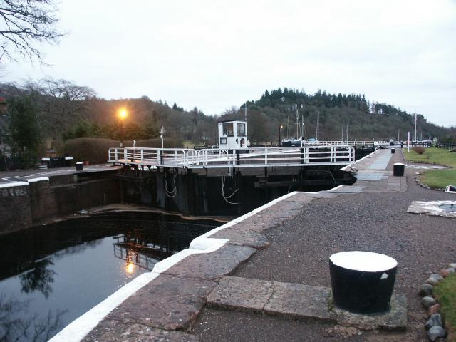Lock at the foot of Loch Ness