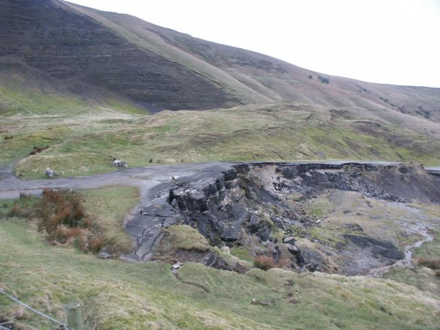 Mam Tor and the old road which has disappeared