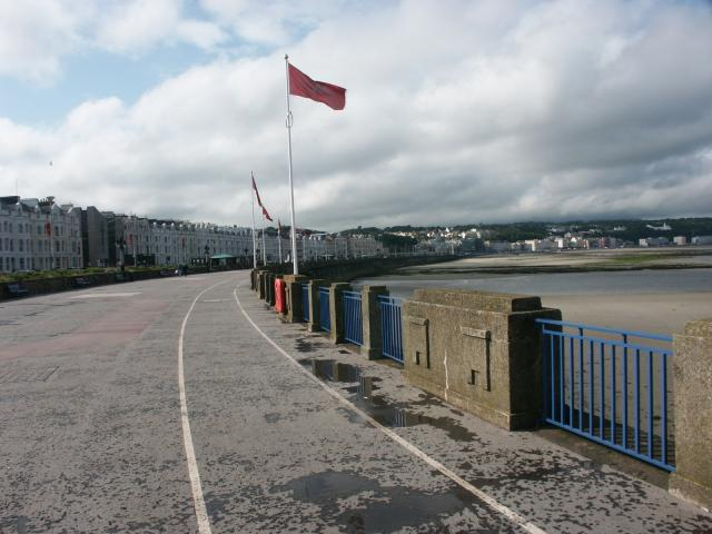 Looking North along the promenade at Douglas IOM