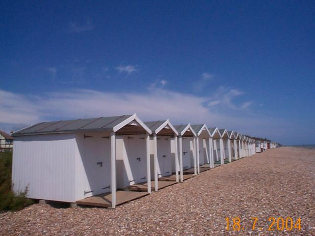 Beach huts between Rustington and East Preston Looking East