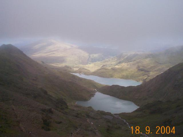 On Snowdon looking East