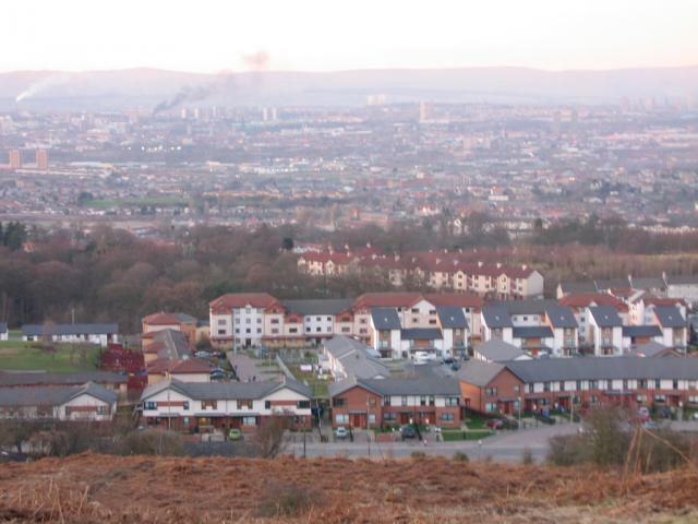 View across to Castlemilk from Cathkin Braes