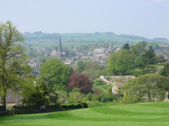 View of Bakewell to the South West