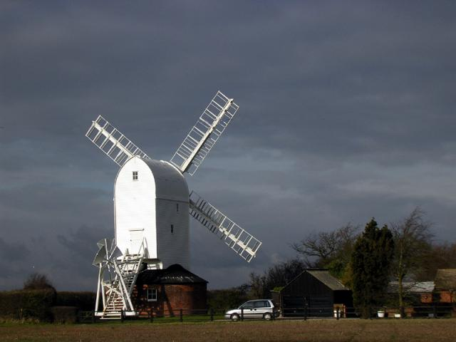 Restored windmill at Aythorpe Roding