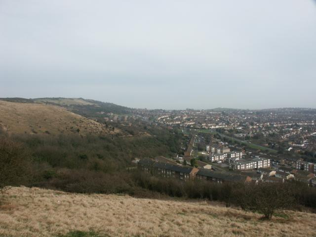 View looking SW from the top of Sugarloaf Hill
