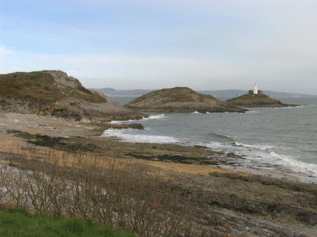 Looking towards the Mumbles Head and Lighthouse