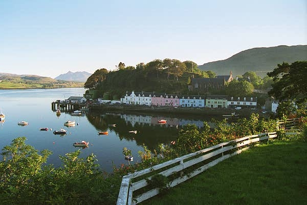 The Harbour of Portree on the Isle of Skye: Scotland