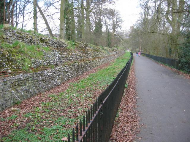 Roman city wall