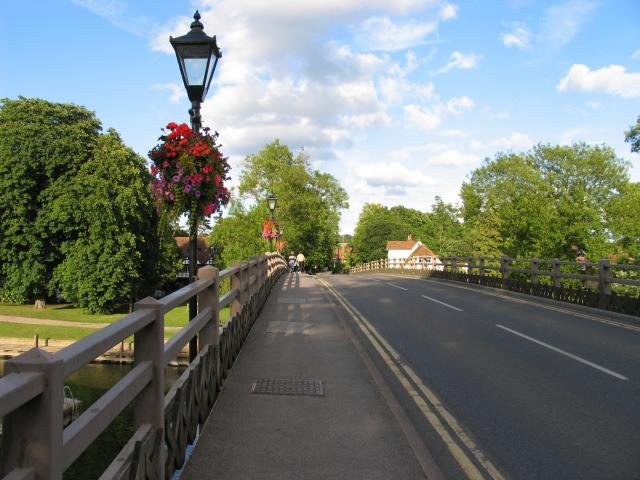 On the Bridge Over the Thames: Goring and Streatley
