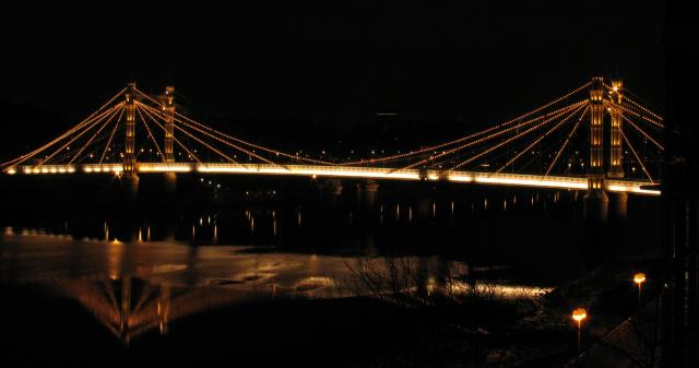 Albert Bridge From the South Bank: Battersea