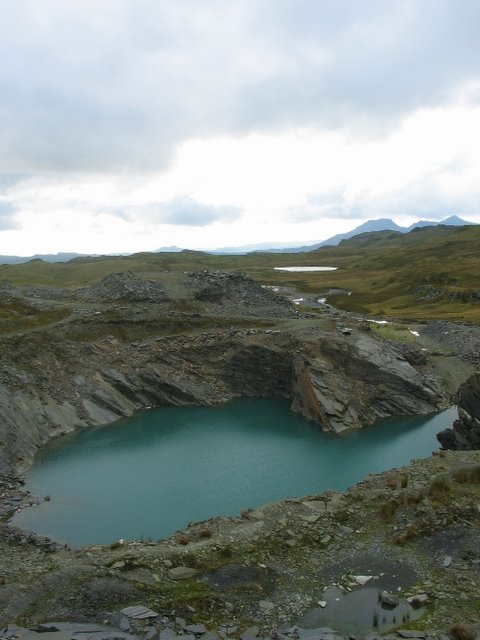 Flooded Quarry and Slate Tips