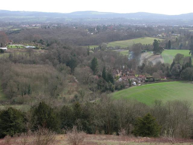 Ashford Chace and farmland below Shoulder of Mutton Hill