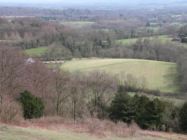 Ashford farm and Farmland from Shoulder of Mutton Hill