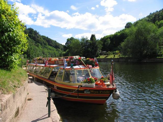Cruise Boat at the Quay at Symonds Yat