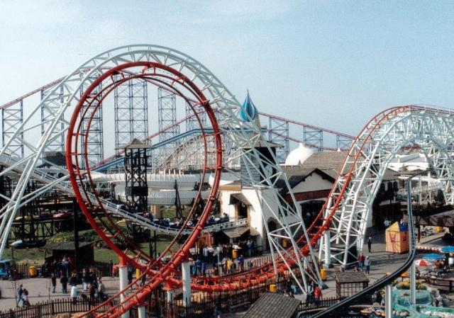 near to South Shore, Blackpool, Great Britain. Blackpool Pleasure Beach