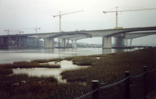 Medway Bridges under construction