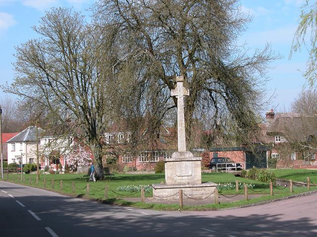 Cheriton War memorial and village green