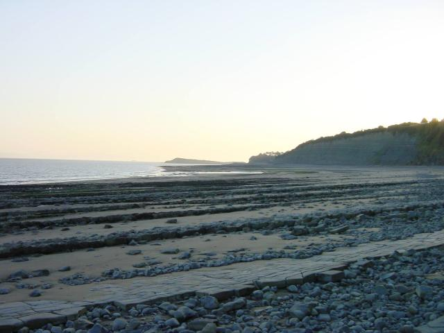 St Mary's Well Bay just west of Lavernock Point