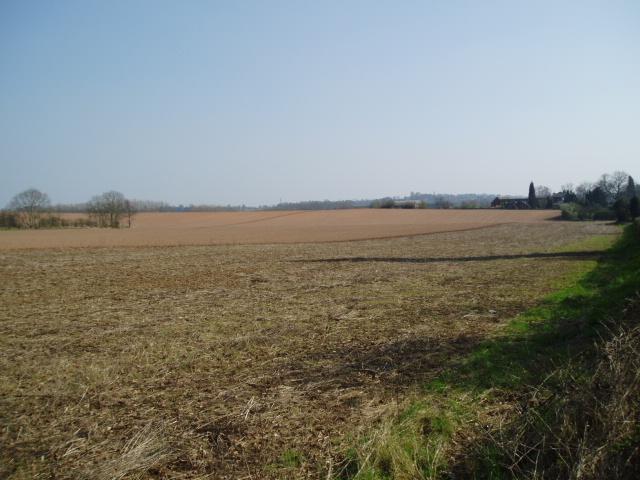 Open farmland, east of Kidderminster.