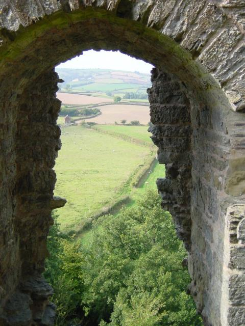 Looking west from Clun Castle